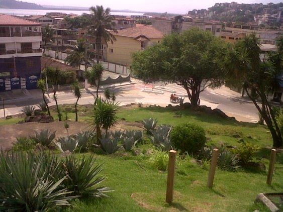 """Vista do Bairro de Santo Antônio olhando do """"pé"""" do Santuário"""